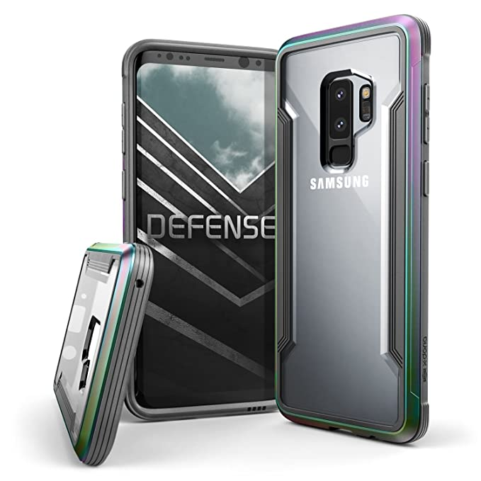 new york 24080 ab313 Galaxy S9 Plus Case, X-Doria Defense Shield Protective Aluminum Frame Case  Thin Design Shockproof Transparent Case for Samsung Galaxy S9 Plus, ...