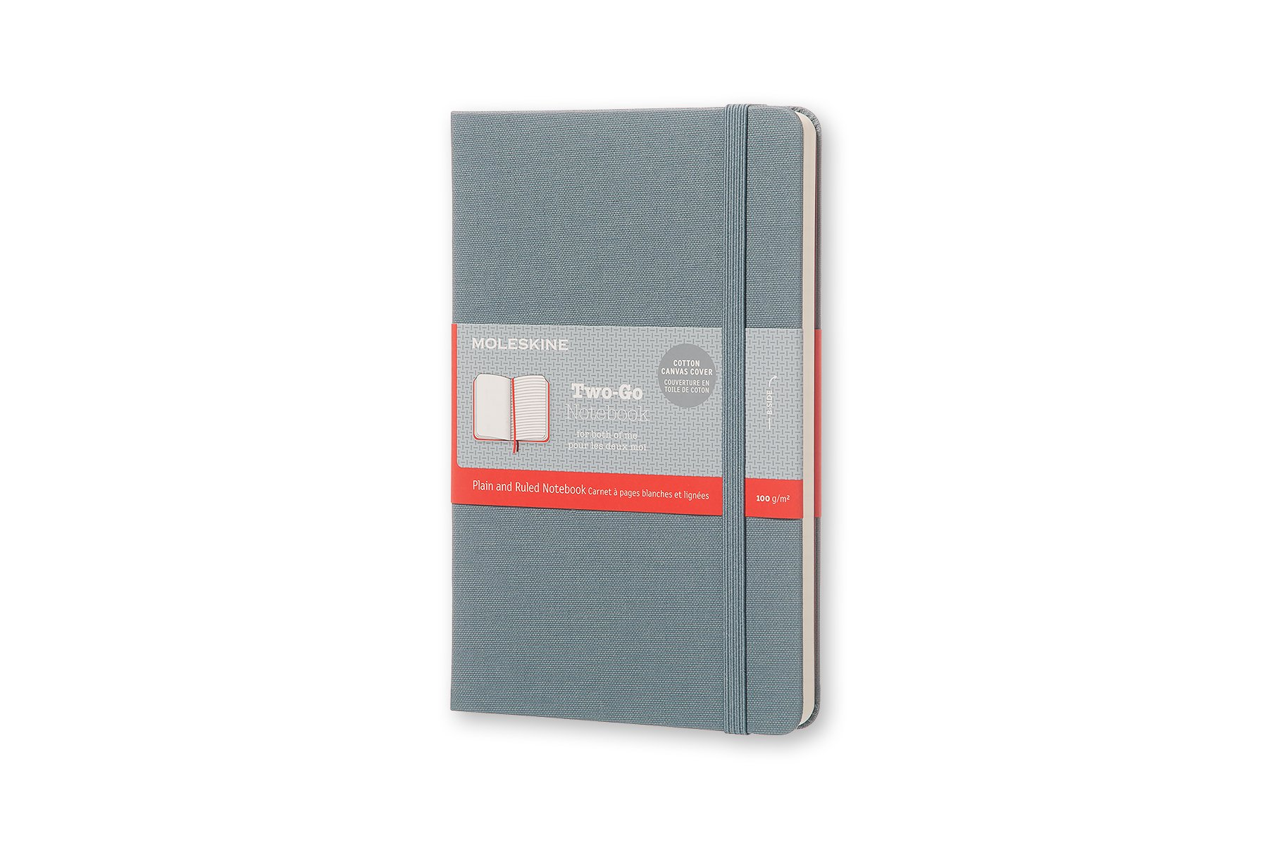 Moleskine Two-Go Hard Cover Notebook, Mixed (Ruled-Pl (QVVU)