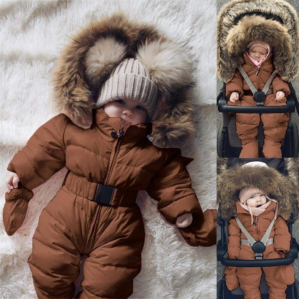 SAKAMU-Winter Infant Baby Boy Girl Romper Jacket Hooded Jumpsuit Warm Thick Coat Outfit