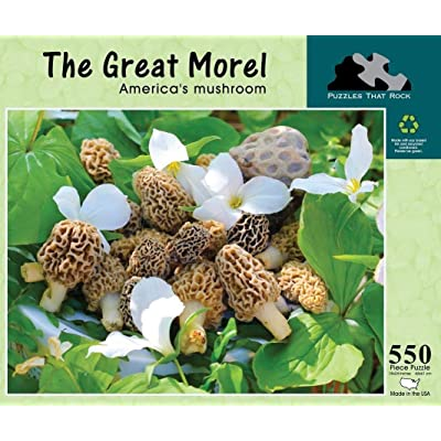 Great Morel - 550 Piece Jigsaw Puzzle - Puzzles That Rock: Toys & Games