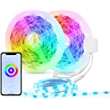 HBN Smart LED Strip Lights, 32.8ft WiFi RGB LED Light Strips Work with Alexa and Google Assistant, 5050 Color Changing LED wi