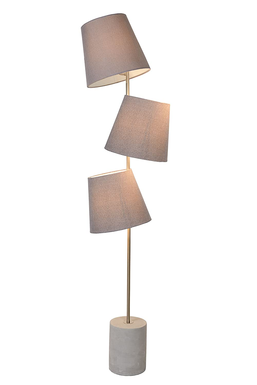 Lucide ARJAN - Stehlampe - Ø 42 cm - Taupe