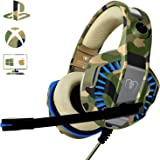 Cuffie Gaming per Xbox One PS4, Beexcellent Multi-Platform Bassi Profondi Over Ear Confortevole Cuffia con Microfono Isolamento Rumore di Controllo del Volume LED per PC, Mac, Laptop
