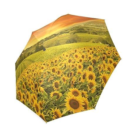 beautytool Custom italiano colinas Paisaje plegable sol lluvia paraguas de viaje