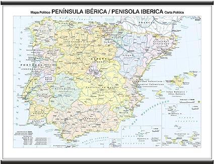 Cartina Spagna Geografica.Cartina Geografica Del Portogallo E Spagna