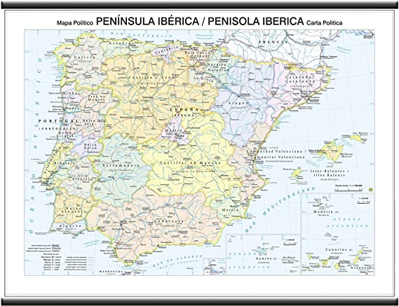 Portogallo Cartina Geografica Politica.Penisola Iberica Carta Murale Scolastica Bifacciale Fisica Politica 132x99 Cm Belletti Amazon It Cancelleria E Prodotti Per Ufficio