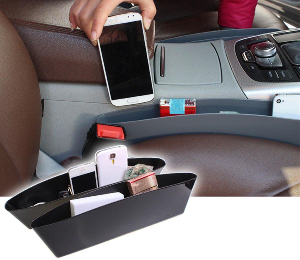 Poche lat/érale BAITER Si/ège auto voiture universel Flexible robuste de fente de rangement suppl/émentaire Capteur de rangement pour ranger 2/pi/èces