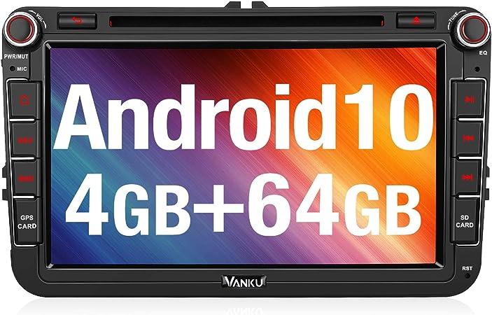 Vanku Android 10 Autoradio Für Vw Radio 64gb 4gb Mit Elektronik