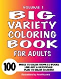 1: Big Variety Coloring Book: For Adults (Volume 1)