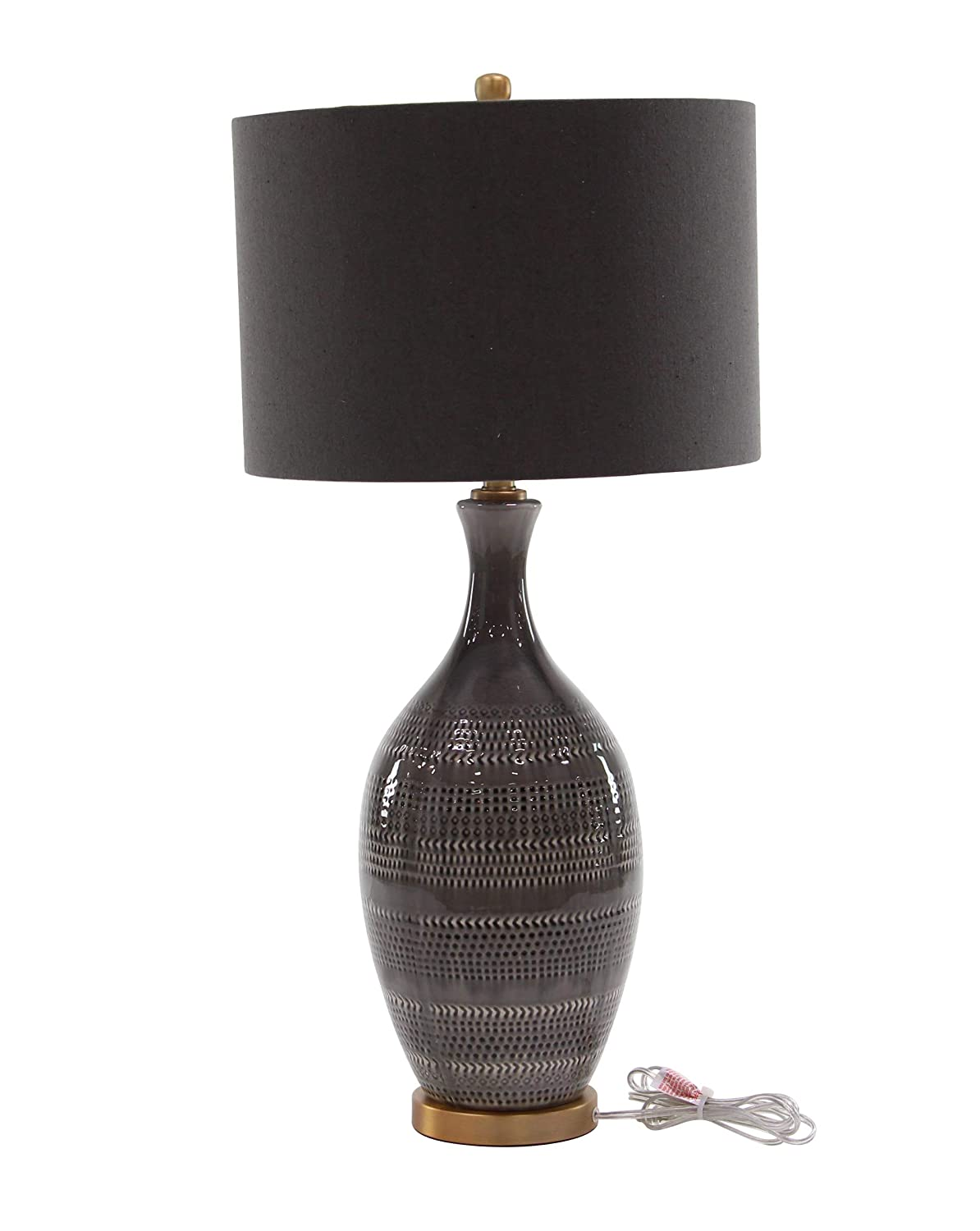 Amazon Com Deco 79 Table Lamps Large Gold Dark Brown