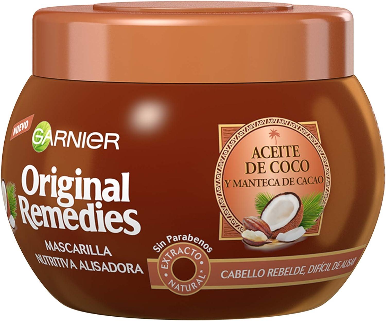 Garnier Original Remedies Aceite de coco y Manteca de Cacao Mascarilla de pelo rebelde y difícil de alisar - 300 ml