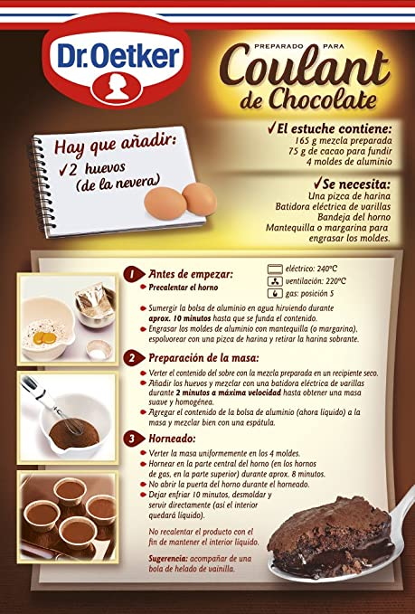 Dr.Oetker- Coulant de Chocolate Dr.Oetker: Amazon.es: Alimentación y bebidas