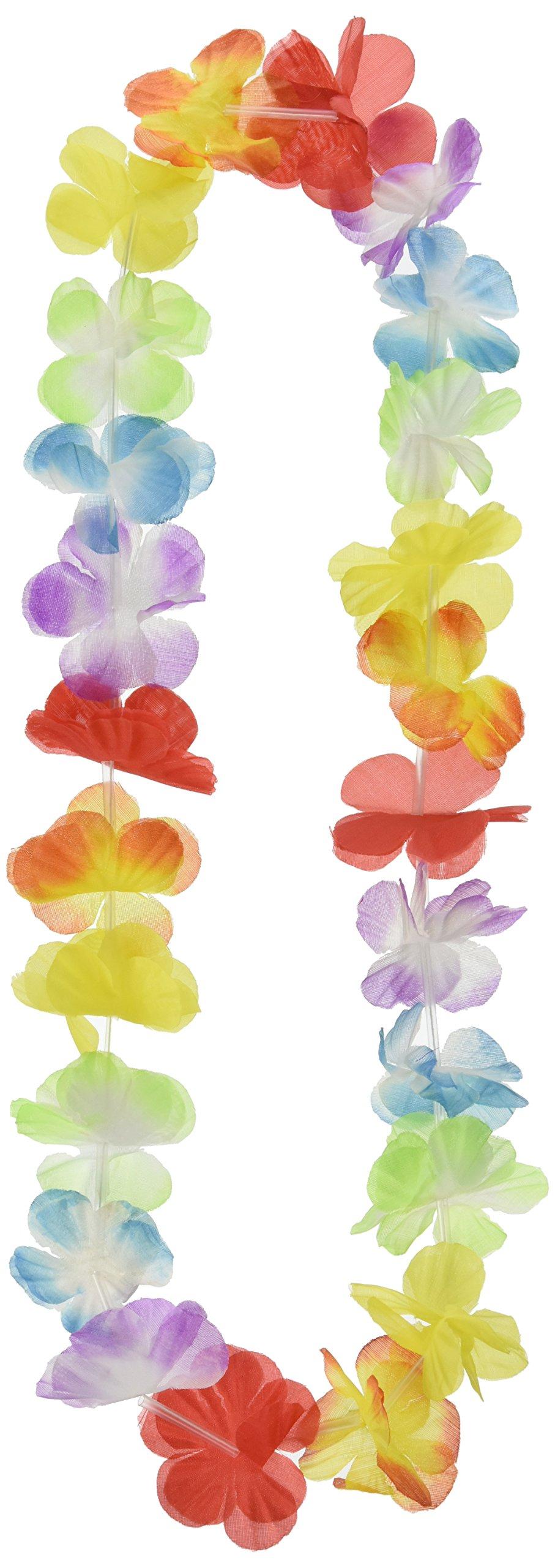 Fun Express Mega Silk Lei Flower Assortment for Tropical Hawaiian Luau Party Favors (50 Count)