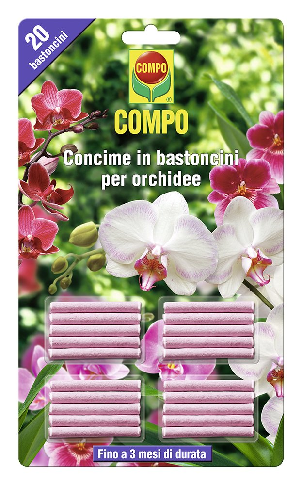 Compo 1197802005 Fertiliser in Sticks for Orchids, Pack of 20, Pink
