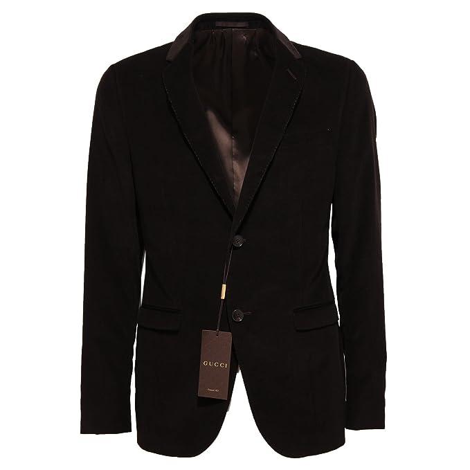 online store fd18e 48931 Gucci 6398Q Giacca Uomo Giacche Velluto Marrone Jacket Men ...