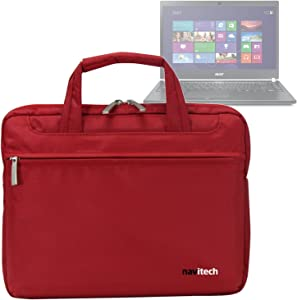 Navitech Red Case/Cover Bag Compatible with The Laptop/Notebook and Tablet PC's Compatible with The Acer TravelMate P645