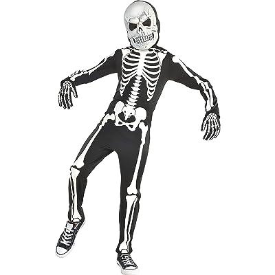 amscan Halloween Boy's X-Ray Skeleton Glow-in-The-Dark Costume: Clothing