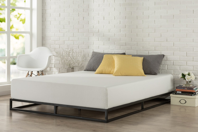 Zinus Modern Studio 6 Inch Platforma Low Profile Bed Frame, Mattress Foundation, Boxspring Optional, Wood slat support, Full