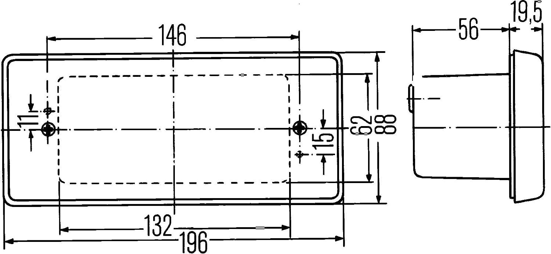 P21W HELLA 2BA 003 734-001 Blinkleuchte Einbau Einbauort: hinten//links//rechts