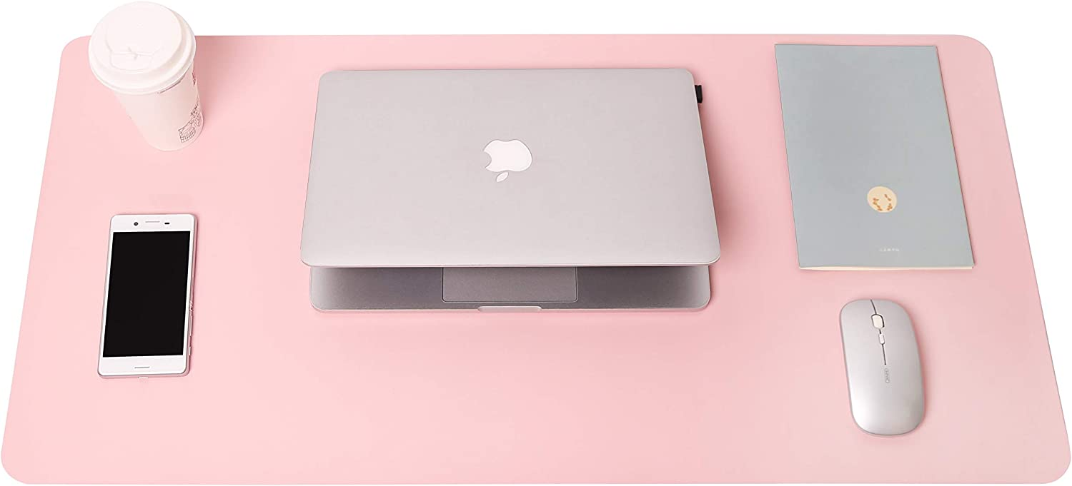 Pink, 31.5 x 15.7 YSAGi Anti-Slip Thin Mousepad for Computers,Office Desk Accessories Laptop Waterproof Desk Protector for Office Decor and Home Writing Desk Pad Protector