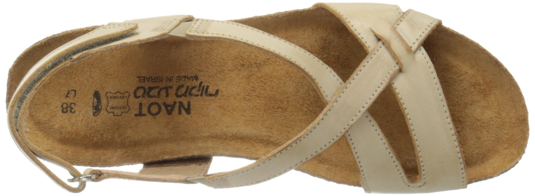Naot Women's Bernice Wedge Sandal, Biscuit Leather, 35 EU/4.5-5 M US by NAOT (Image #8)