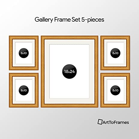 Amazon.com: ArtToFrames Picture Frame 5 Piece Wall Set, (4) 10x8, (1 ...