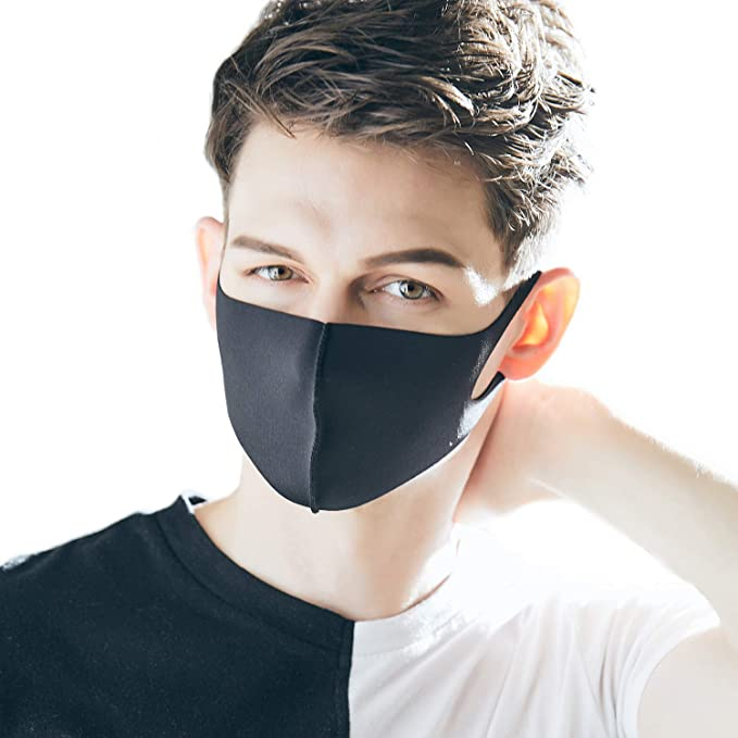 Mask Air Protective Fashion And Reusable Looka Double Face Washable Black Layered