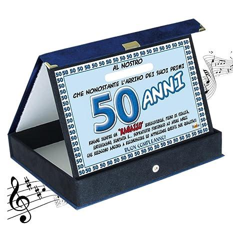 targa premio compleanno sonora 50 anni amico articolo idee regalo