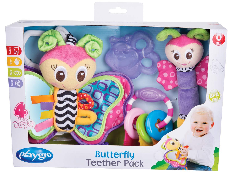 Juguetes para beb/és Multicolor Desde 0 meses 24 piezas Playgro Set de Regalo con Actividades Jumbo Jungle Libre de BPA 40209