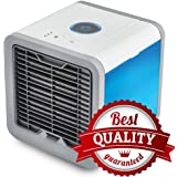 Portable Air Conditioner, Personal Space Air Cooler, Humidifier, Air Purifier, 7 Colors LED Night Light, Cooling Fan for Office Home Outdoor Travel
