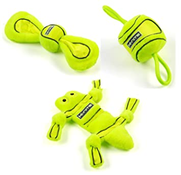 le dernier 14018 08fa9 Super Lot de 3 neongelbes peluche jouet pour chien avec ...