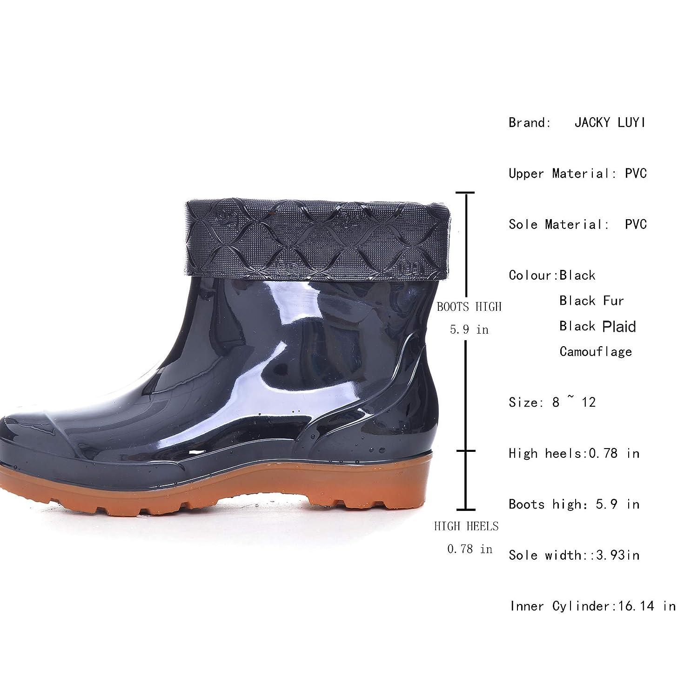 JACKY LUYI Men Rain Boots Waterproof Rubber Washing Work Boots