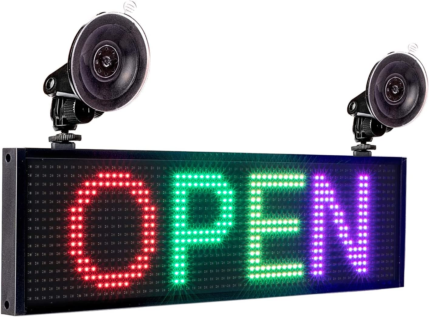 MAQLKC Programmable LED Sign P5 12V steam Billboard Rear Window Glass Electronic subtitles led car Interior Rolling semi-Outdoor Display 10020CM