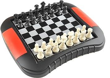 Quantum Abacus Monaco Magnetic Series: Juego de ajedrez y Damas, 2 - en-1, Juego de Mesa magnético, Tamaño Medio: Dimensiones 27,2 x 23,7 x 3,5 cm, Mod. SC9618 DE: Amazon.es: Juguetes y juegos