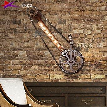 LED Moderna Lámpara de Pared Creativa lámpara de pared de hierro ...