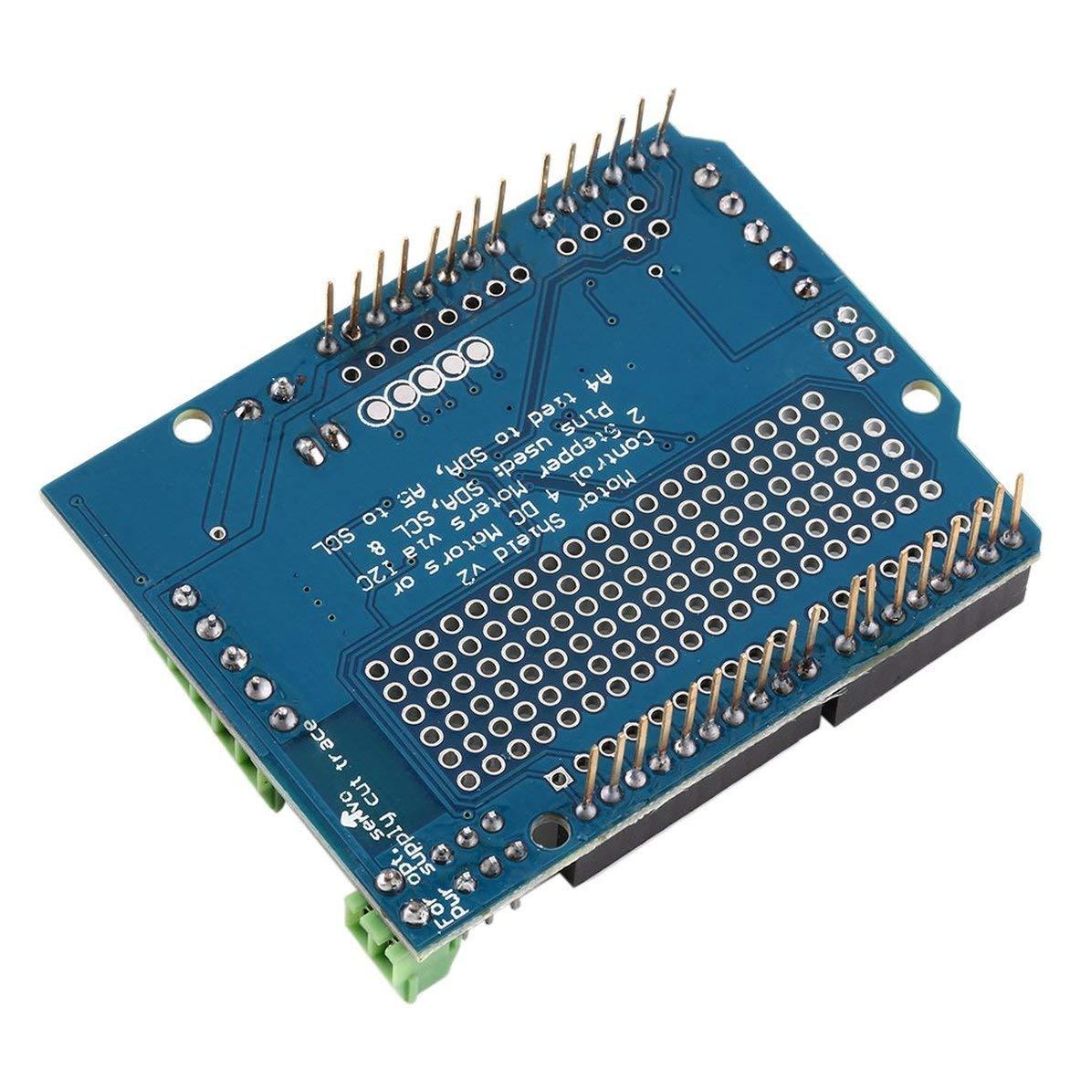 Stepper Robot Shield para Arduino v2 con PWM Driver Shield Servo Corneliaa-ES Blue Motor