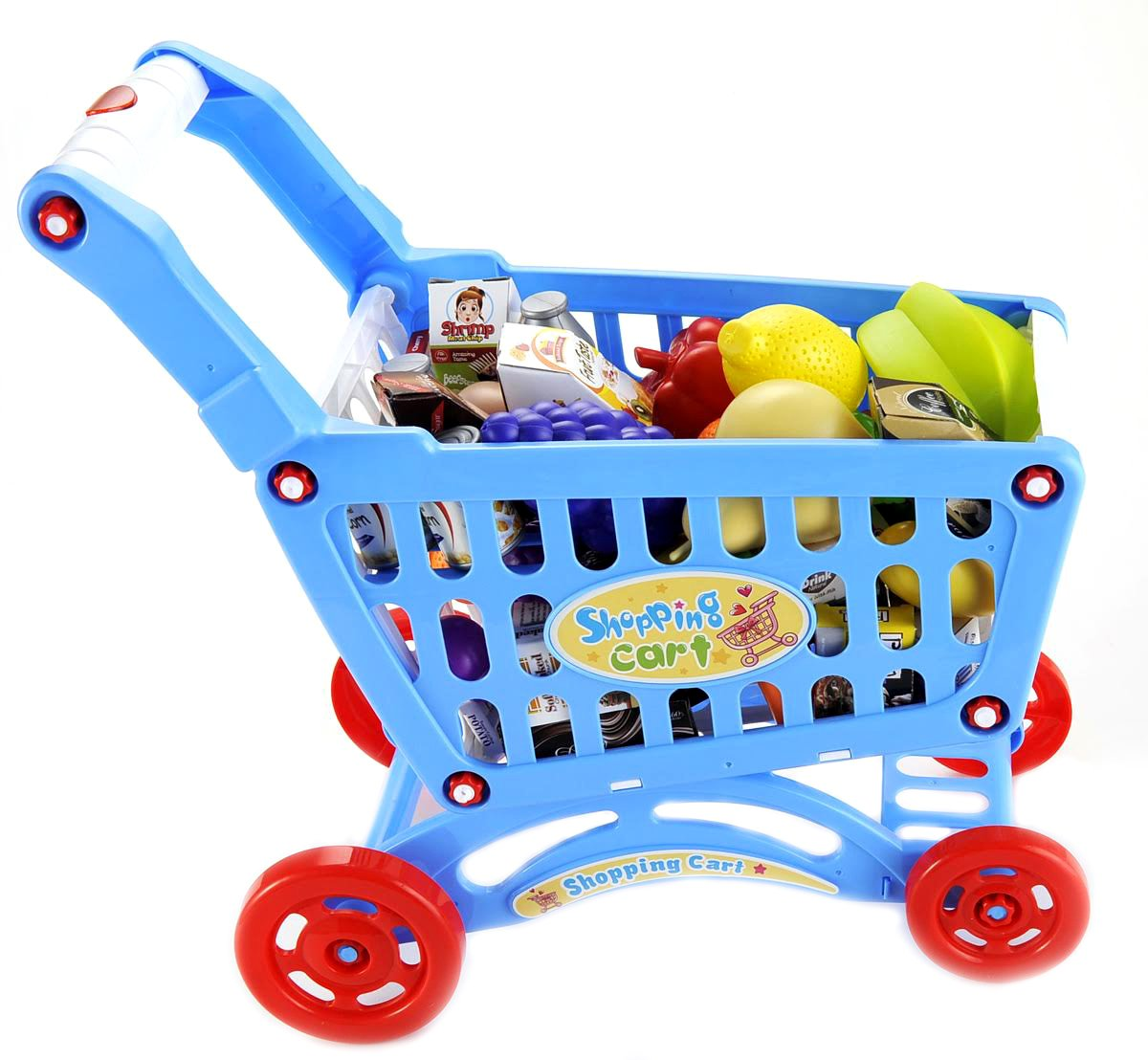 PowerTRC 19'' Mini Shopping Cart with Groceries Playset