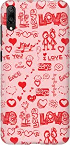 Stylizedd for For Huawei Y7 Pro (2019) Slim Snap Basic Case Cover Matte Finish - Love Doodle