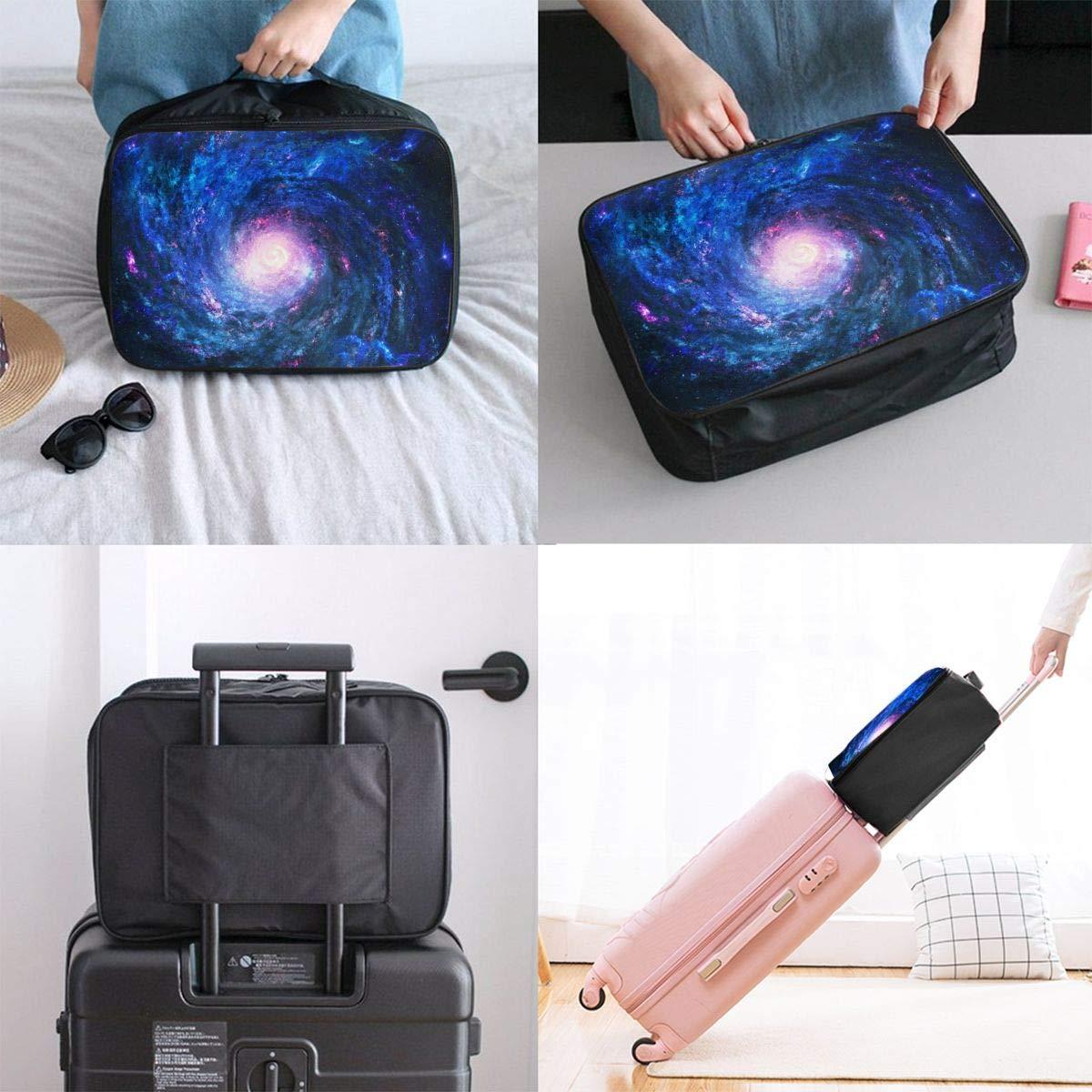 ADGAI Milky Way Series 3 Canvas Travel Weekender Bag,Fashion Custom Lightweight Large Capacity Portable Luggage Bag,Suitcase Trolley Bag