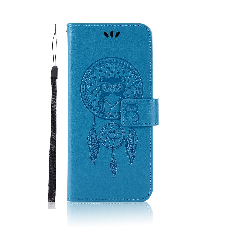 sinogoods para Xiaomi Redmi 5 Plus Funda Cuero De La PU Magn/ético Capirotazo Billetera Apoyo Bumper Protector Cover Funda Carcasa Case Marr/ón