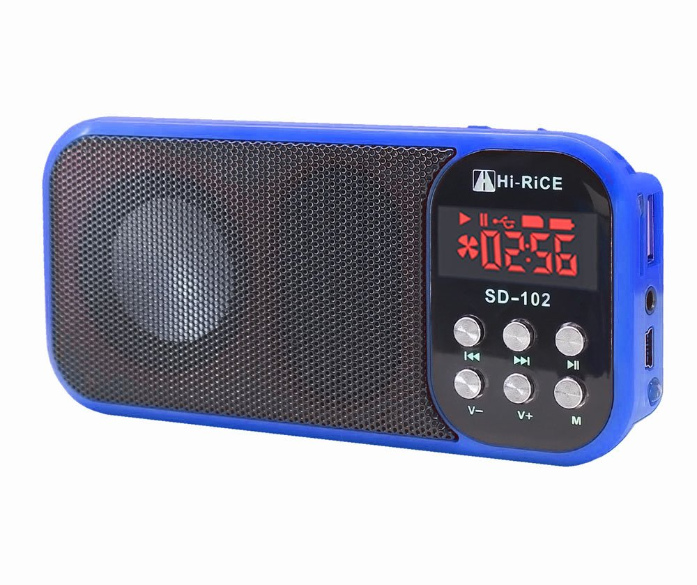 Hi-Rice SD-102 Portable FM Radio USB TF Card Reader MultiMedia MP3 music Player Digital Speakers