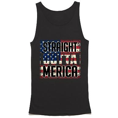 f1983db53da9 Straight Outta Merica Tank Top - America Tanks - USA Shirt - American Flag  Te.