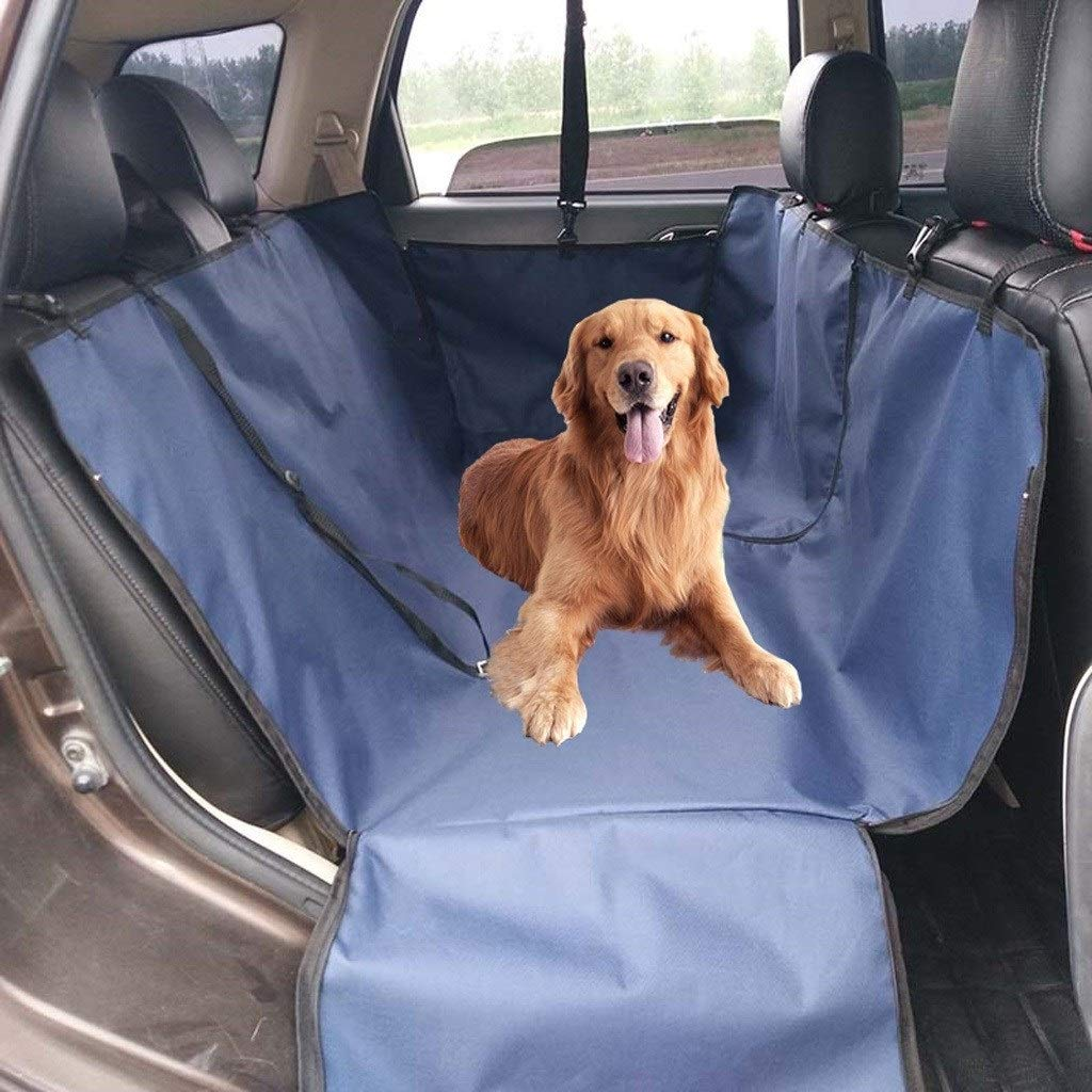 bluee HOSHT Dog Car Seat Covers Hammock Tan, Large Size Universal Pet Car Seat Cover Duty Scratch Proof Nonslip Durable Soft Predection Against Dirt and Pet Fur (color   Brown)