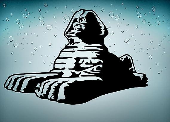 Skin sticker Egipto antiguo antigua egipcio sphinx gizeh macbook, color negro: Amazon.es: Juguetes y juegos