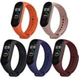 Monuary 5 Pieces Straps for Xiaomi Mi Smart Band 4 / Mi Band 3, Colourful Replacement Bracelet in Anti-Lost Silicone…