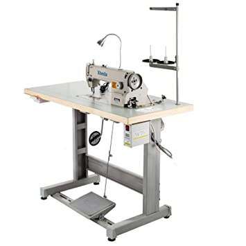 Vevor Industrial Sewing Machine Ddl8700 Lockstitch Sewing Machine With Servo Motor + Table Stand + Led Lamp Commercial Grade Sewing Machine For Sewing All Types Of Fabrics (Ddl 8700) by Vevor