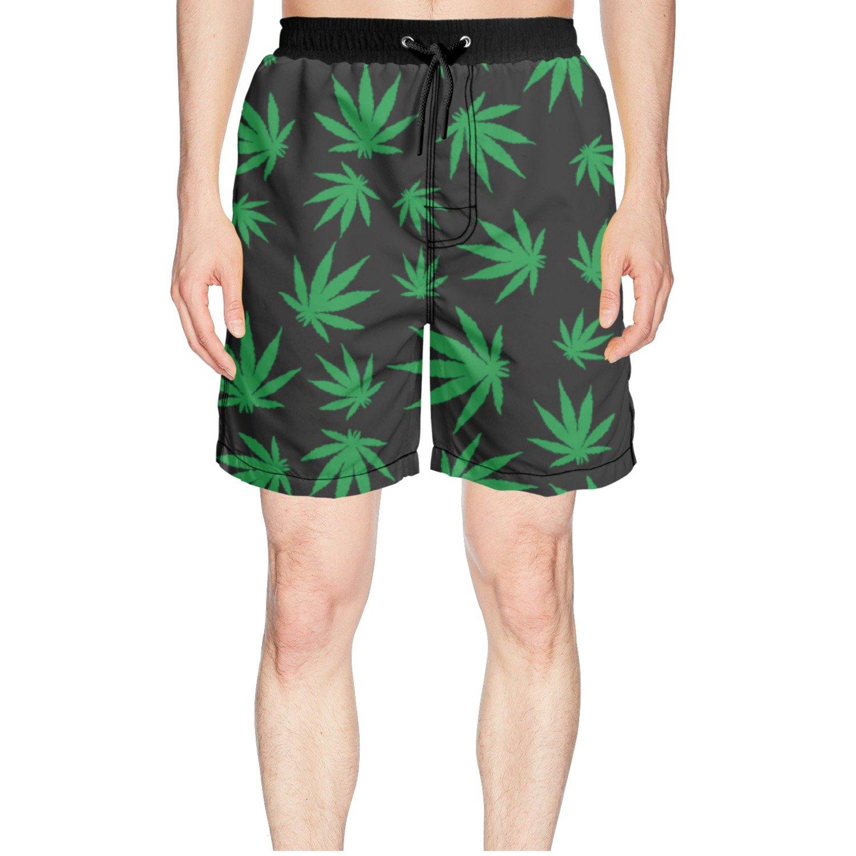 Amazon.com: godfer arabe verde Weed de playa hombre Junta ...