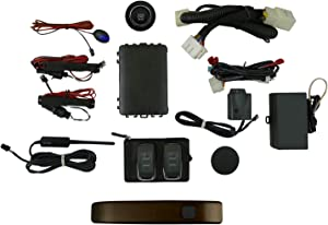 EasyGO AM-F150-J1 Smart Key Remote Start and Alarm System with Kodiak Brown Driver's Door Handle for Ford F-150 Truck