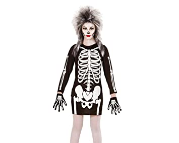 WIDMANN Disfraz de Esqueleto para niña, Vestido
