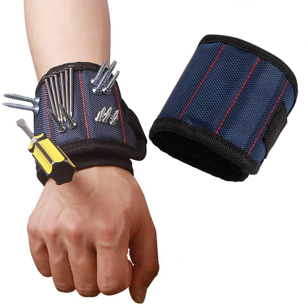 Blue Great Dad Gift,Nesee Working Helper Magnetic Wristband Pocket Tool Belt Pouch Bag Screws Holding